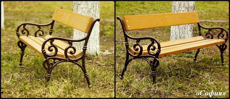 Чугунная скамейка фото София