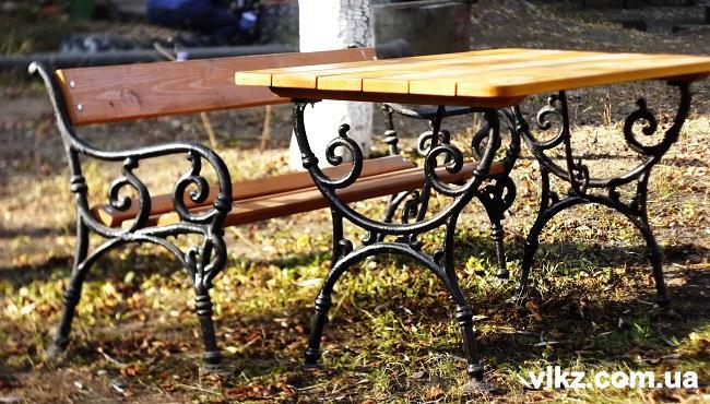 чугунная скаймека, стол из чугуна