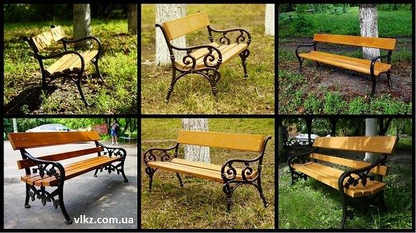 скамейки чугунные садово-парковые